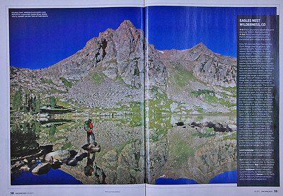 Backpacker Magazine March 2011 double page spread