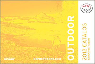 2012 Osprey Backpacks catalog cover