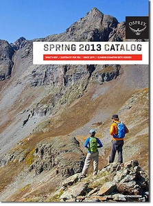 Osprey Backpacks 2013 catalog cover