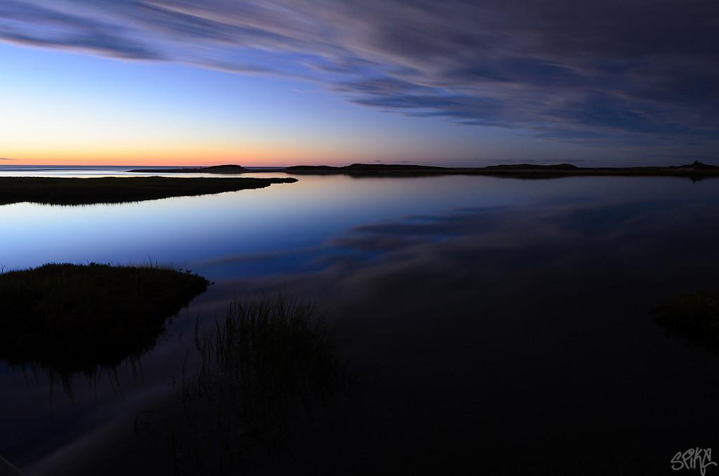 Bass Hole sunset