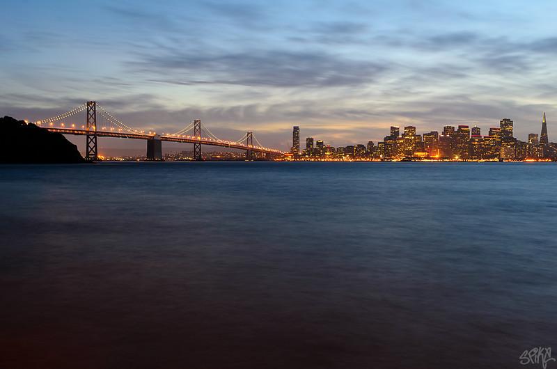 San Francisco twilight from Treasure island