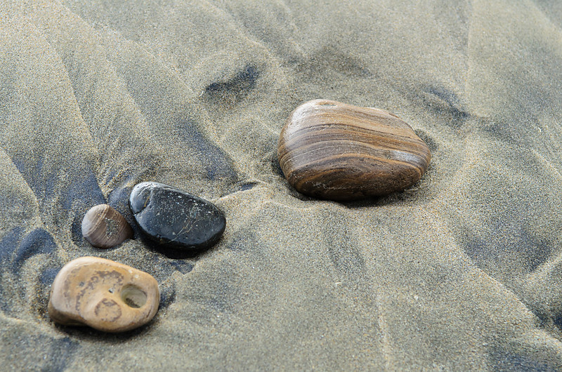 Rocks shaped by the surf