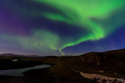Aurora Borealis over Stykissholmur