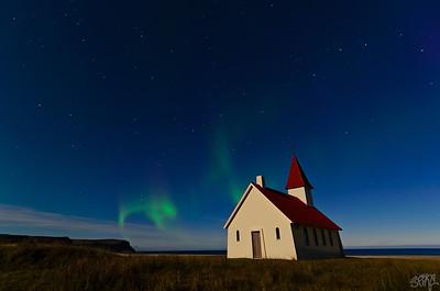Aurora Borealis over Breidavik