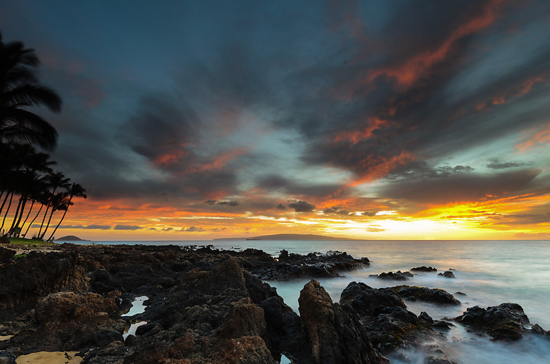 Keawakapu beach last glow