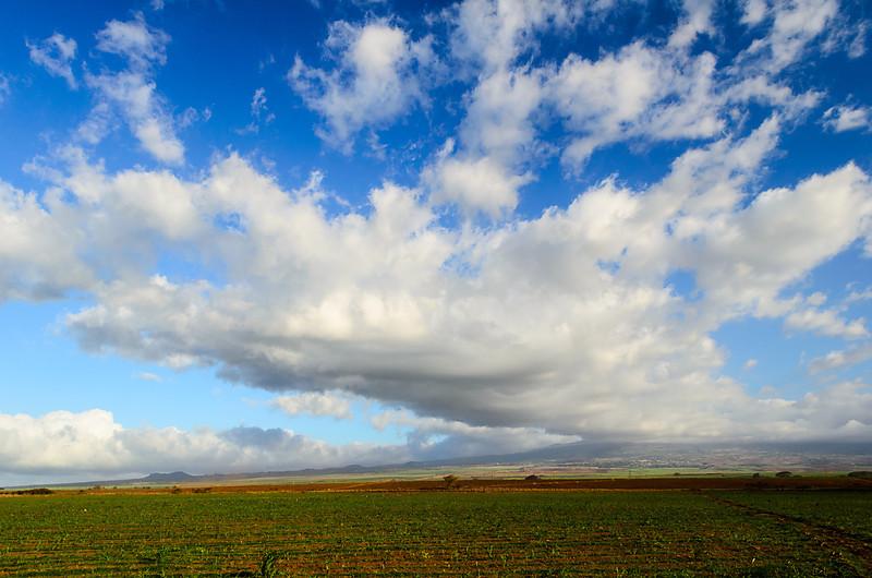 Haleakala cloud run off from th evolcano