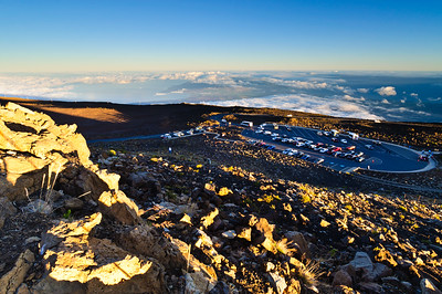 Haleakala carpark on the volcano