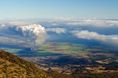 Maui sugar cane burn-off