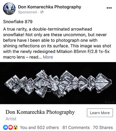 snow crystal inspiration