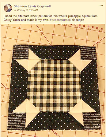 Shannon Lewis Cogswell's Pineapple Block