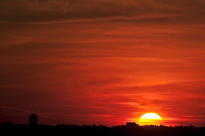 Sunrise from Chatfield Reservoir