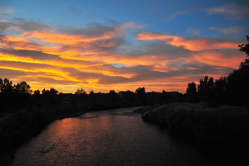 Sunset on the South Platte