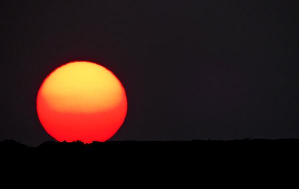 smoky September sunrise