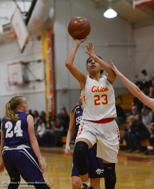 . Chico High hosts Shasta High girl\'s basketball, Friday, January 26, 2018 at the Chico High School in Chico, California. (Carin Dorghalli -- Enterprise-Record)