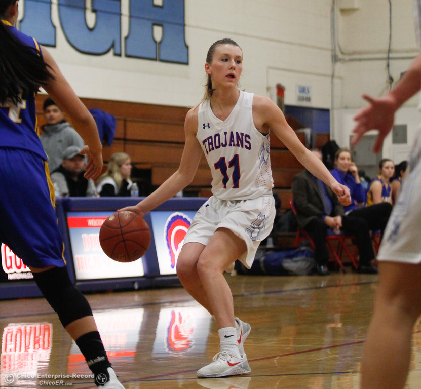 . Durham\'s Natalie Thorpe (11) contemplates her next move, Thursday, January 25, 2018 at Durham High School in Chico, California. (Carin Dorghalli -- Enterprise-Record)