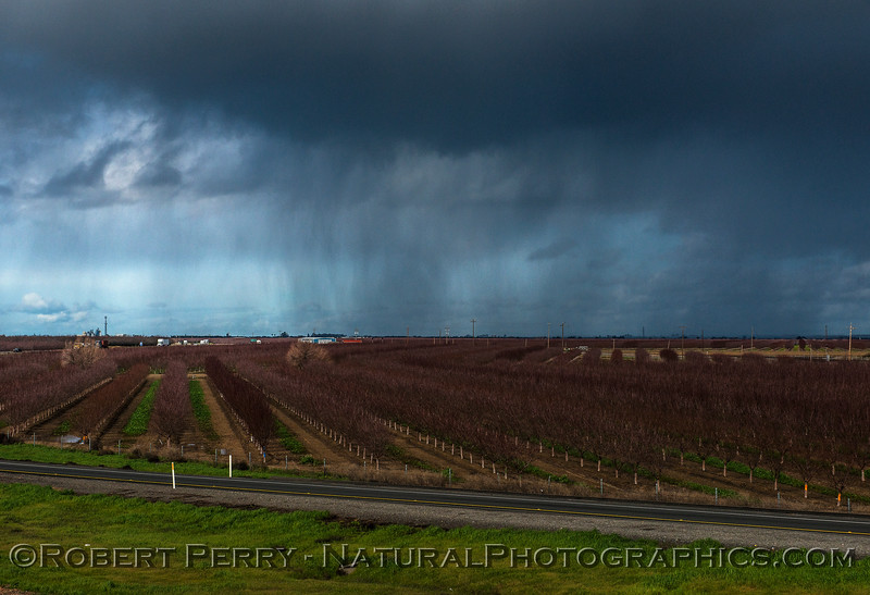 Storm squall approaching over the fields near Maxwell CA.