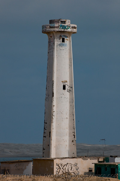 Close look at Halo Viejo - the old light house -    Scammon's.