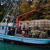 "Fishing vessel ""Lawrence"" with crab traps - Noyo Harbor."