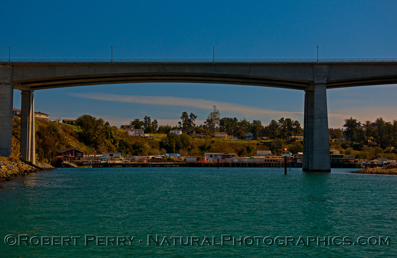 HWY 1 bridge, Noyo River Harbor, Fort Bragg, CA.