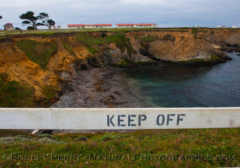 Cove north of Point Arena - Keep Off.