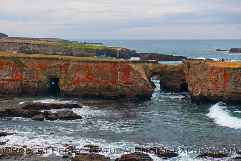 Sea arches - south of Point Arena.
