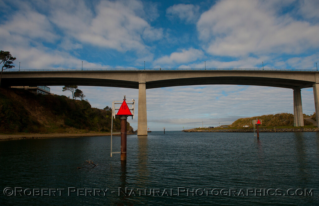 HWY 1 bridge, Noyo River Harbor, Fort Bragg, CA.