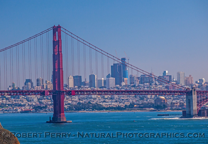 Golden Gate and the city.