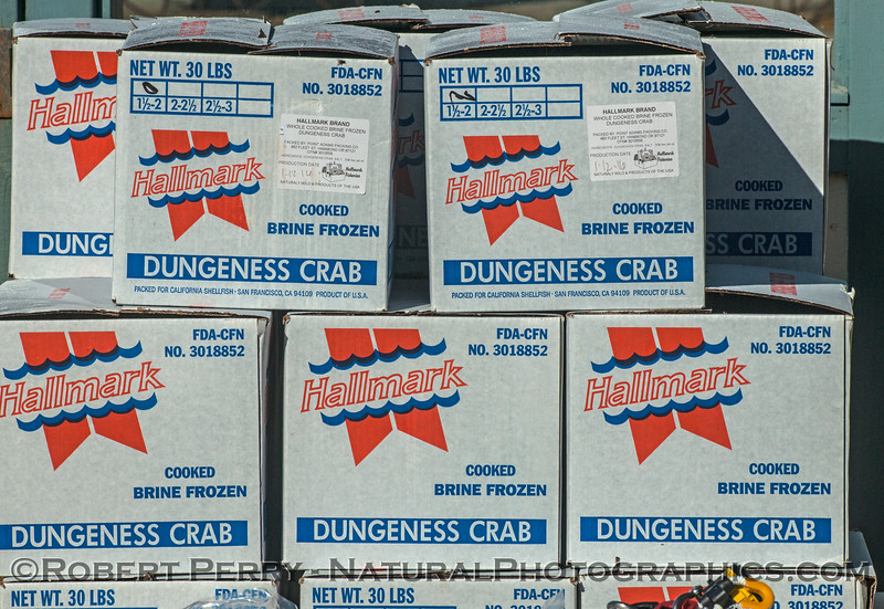 Boxes of crab.