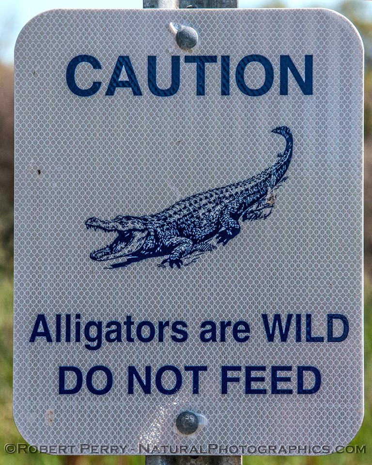Sign - Aransas National Wildlife Refuge.