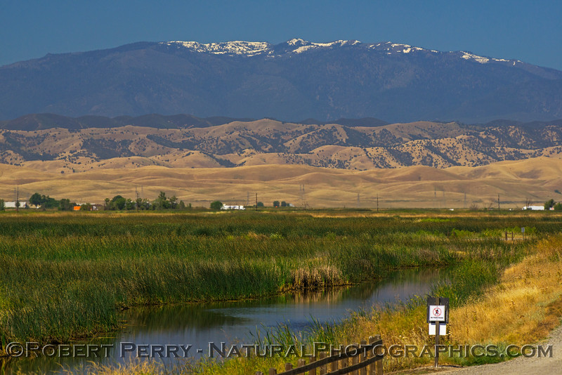 Snow Mountain in the Mendocino Forest provides a backdrop for this estuary photograph.