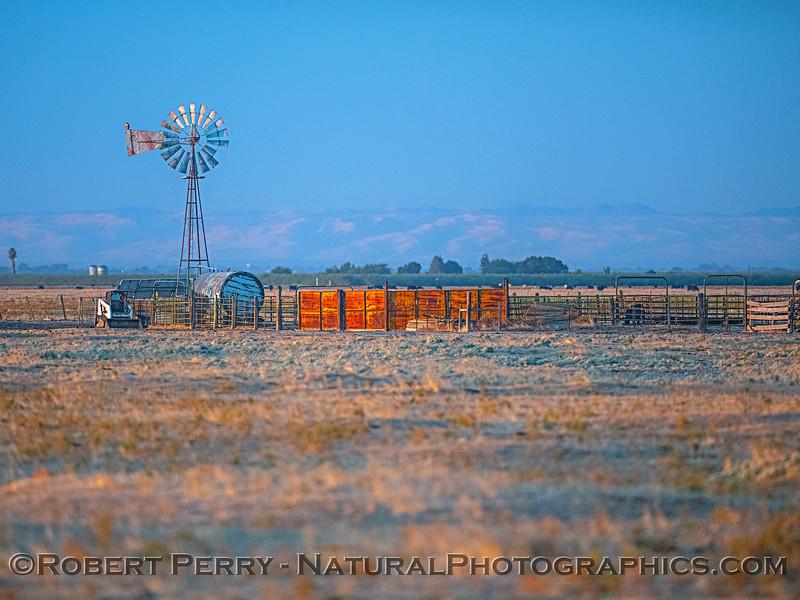 windmill at dawn 2019 10-04 Merced area--007