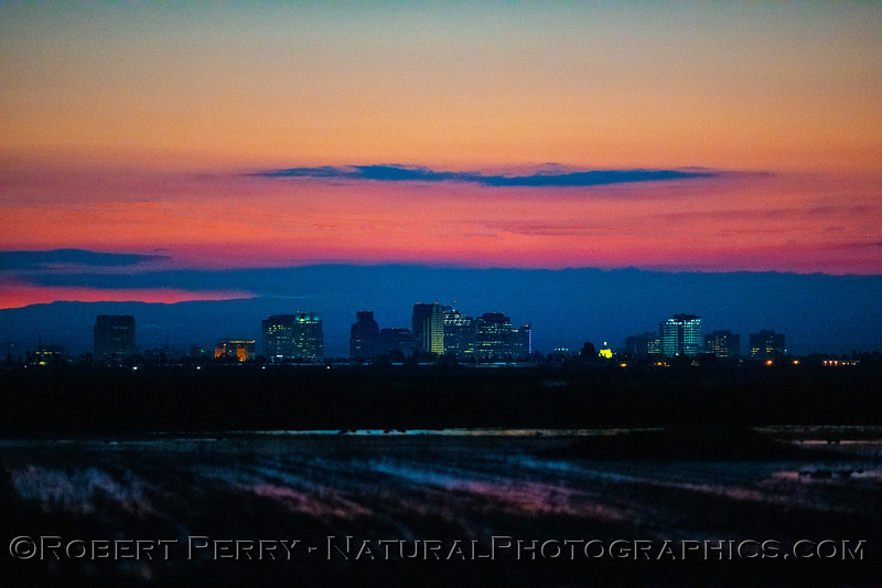 view of Sacramento at dawn 2020 03-20 Yolo ByPass--007