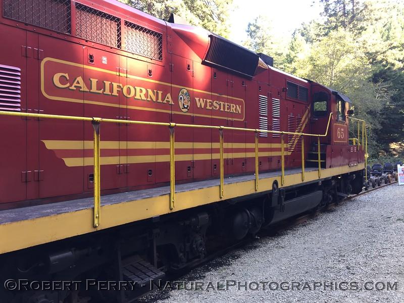 California Western skunk train engine 2020 10-22 Ft Bragg