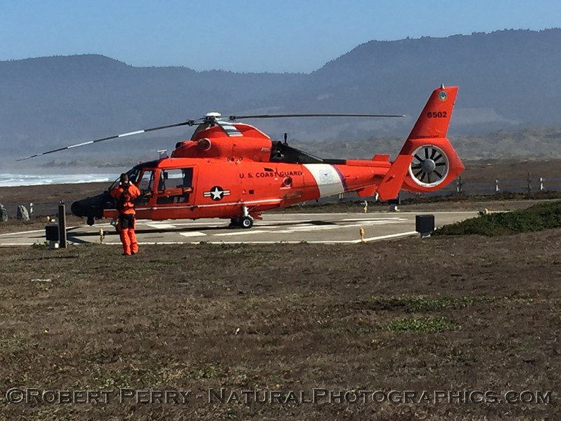 helicopter on pad Pt Arena CA 2020 10-22