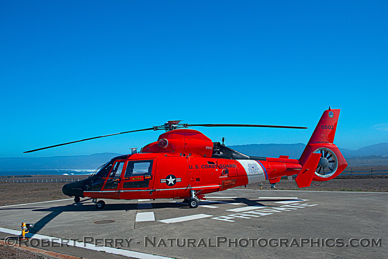 US Coast Guard M-65 short range recovery helicopter near lighthouse 2020 10-22 Pt Arena-b-060