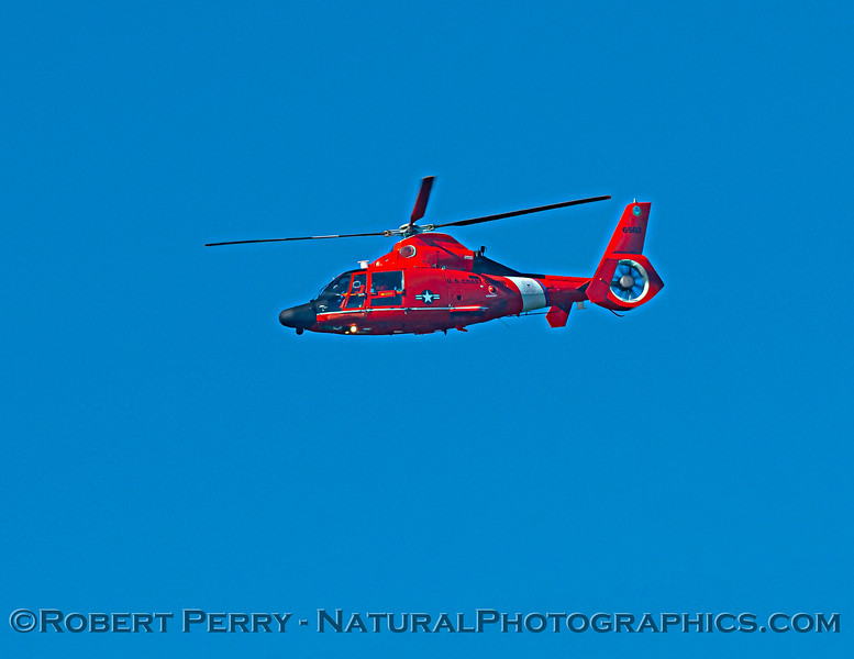 US Coast Guard M-65 short range recovery helicopter in flight 2020 10-22 Pt Arena-022