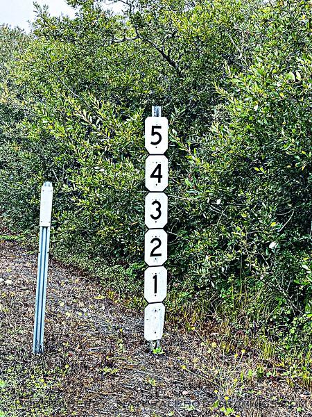 highway marker near Pt Arena