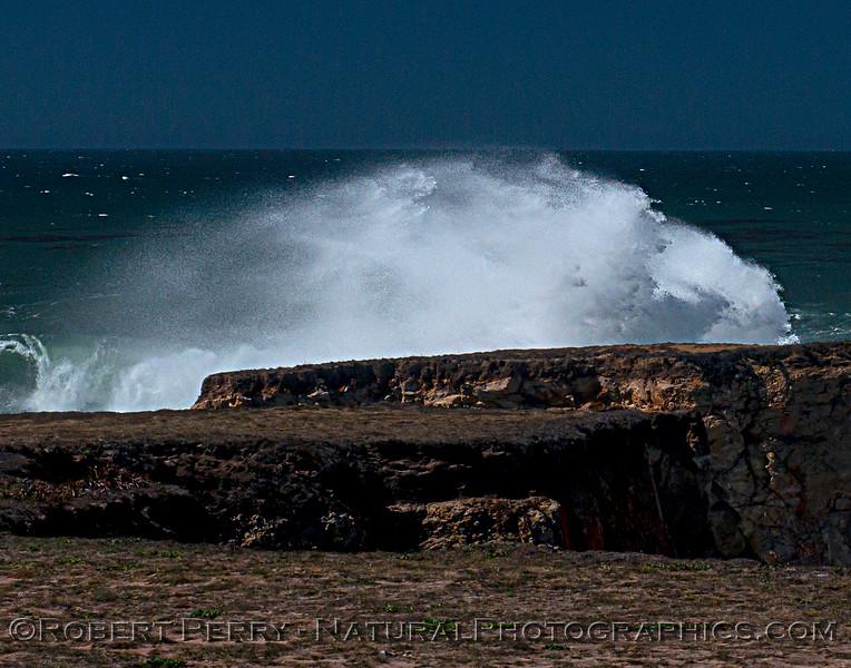 waves spilling over rocks 2021 09-28 Pt Arena--016