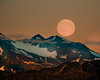 """This moon-rise photograph  was captured in Homer, Alaska (8/15). <font color=""""RED""""><h5>This photograph is protected by International and U.S. Copyright Laws and shall not to be downloaded or reproduced by any means without the formal written permission of Ken Conger Photography.<font color=""""RED""""></font></h5></font>"""