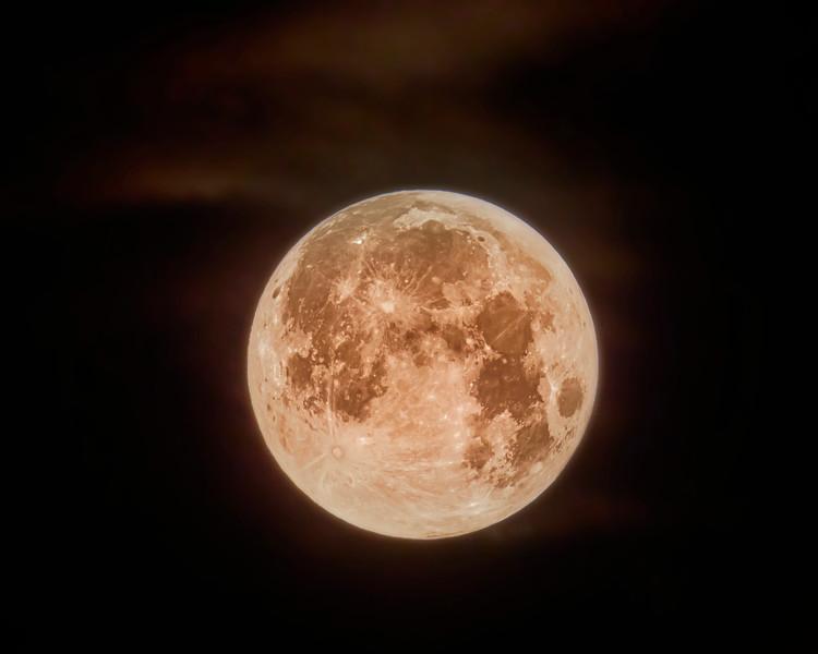 North Carolina Outer Banks Blood Moon