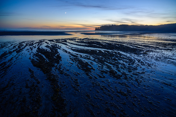 Low tide sunset, Neah Bay, Olympic Beach, Washington