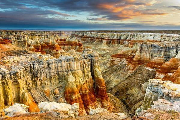 Layers of rock in Coal Mine Canyon, Arizona