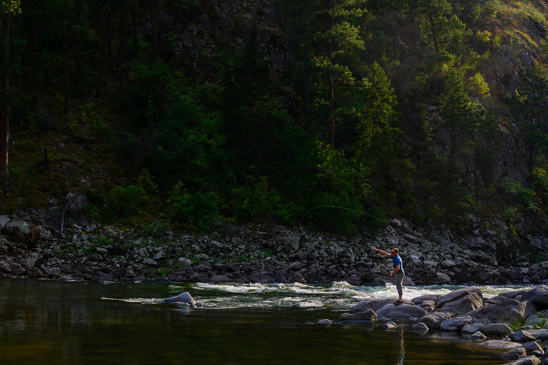 "<br>I'm not a big fisherman, but by all reports, the fly fishing is outstanding.  We ran into a couple from McCall fishing on Big Creek who had been coming every year for a long time and reported their ""best day ever"".  Tim had the same experience on Big Creek."