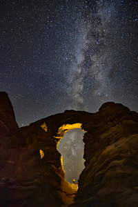 Arches National Park North Window With Milky Way In The Background