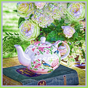 Tea Time in the Garden - Judith Sparhawk