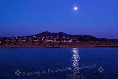 Moonrise Over Morro Bay - Judith Sparhawk