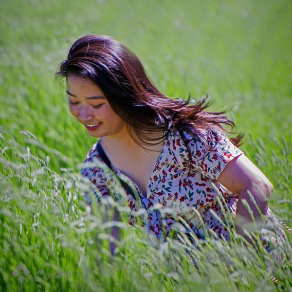 Girl in the Lavender