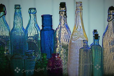 Bottles in the Window - Judith Sparhawk