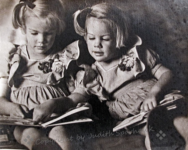 The Twins Reading - Judith Sparhawk