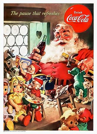 1953 Coca-Cola Christmas Advertisement